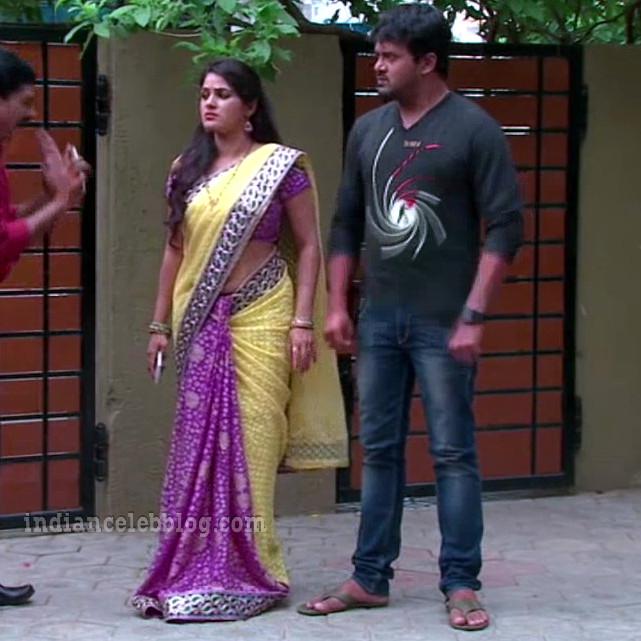 Monisha nandhini telugu serial actress s3 12 hot saree photo