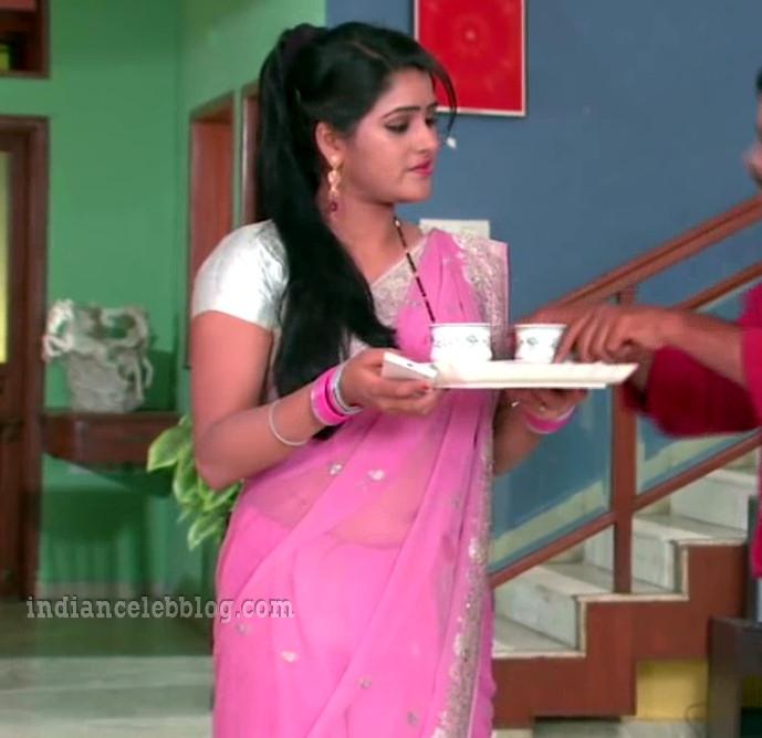 Monisha nandhini telugu serial actress s3 2 hot saree pic