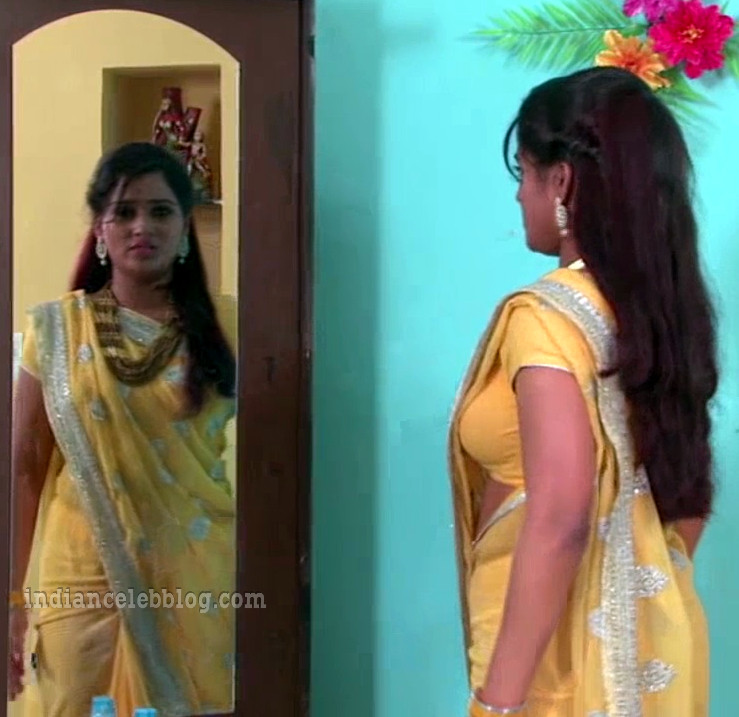 Monisha nandhini telugu serial actress s3 5 hot saree pic