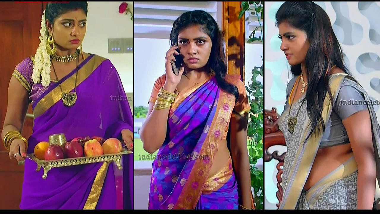 Nakshatra srinivas Maya serial hot sari HD caps