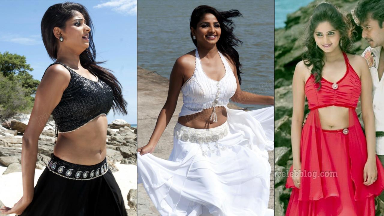 Rachita Ram Kannada Actress Hot navel show Pics Gallery