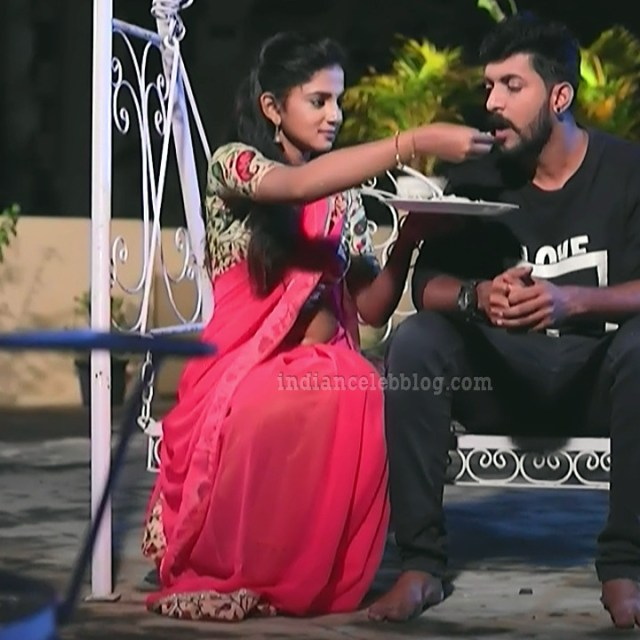 Raksha gowda Putmalli serial actress S2 10 saree pic