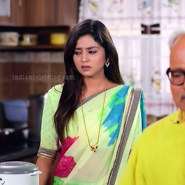 Raksha gowda Putmalli serial actress S2 14 saree photo