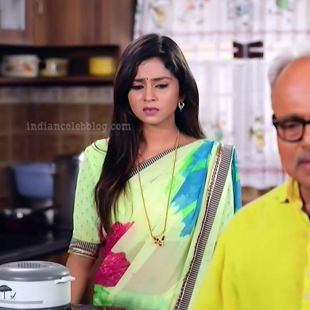 Raksha gowda Putmalli serial actress S2 15 saree photo