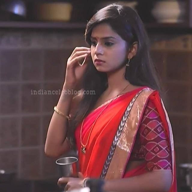 Raksha gowda Putmalli serial actress S2 16 saree photo