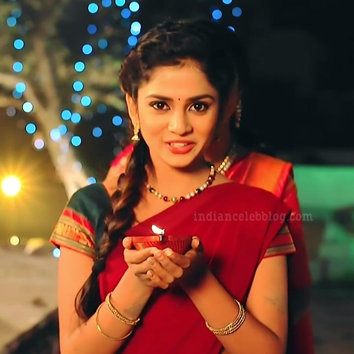Raksha gowda Putmalli serial actress S2 3 saree photo