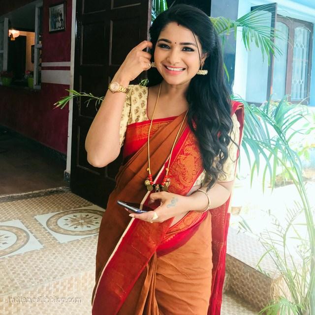 Sharanya turadi nenjam marappathillai actress CTS1 2 saree photo