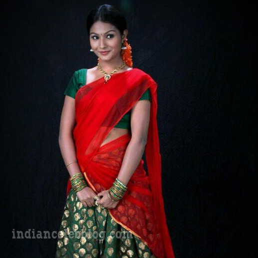 Sharanya turadi nenjam marappathillai actress CTS1 26 saree photo