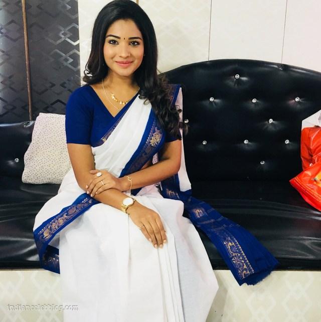 Sharanya turadi nenjam marappathillai actress CTS1 6 saree photo
