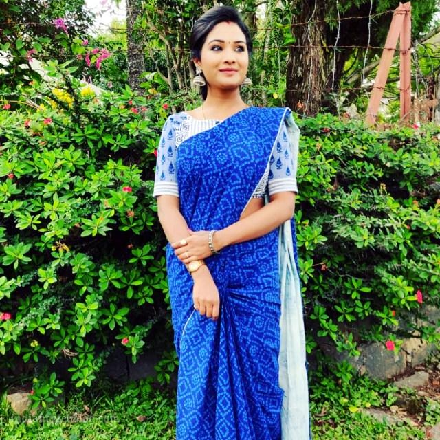 Sharanya turadi nenjam marappathillai actress CTS1 8 saree photo