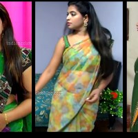 Akhila Tamil tv actress Hot saree show HD caps