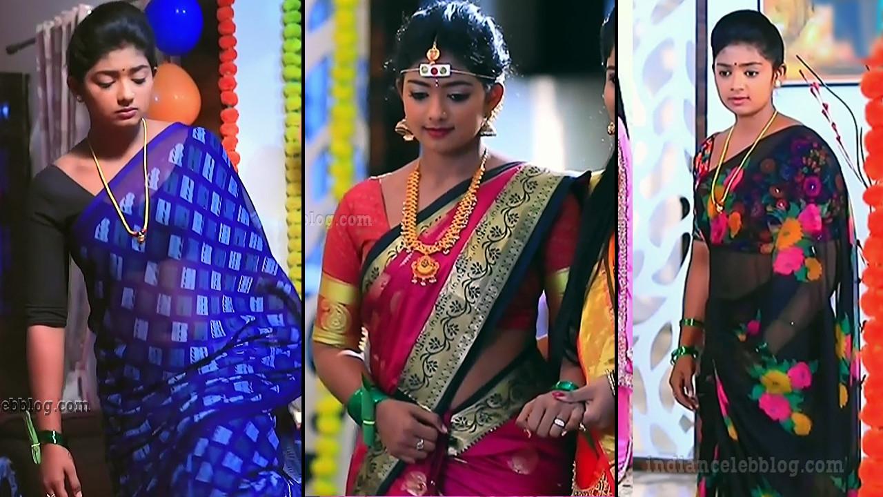 Bhoomi shetty HD saree caps from Kinnari kannada serial