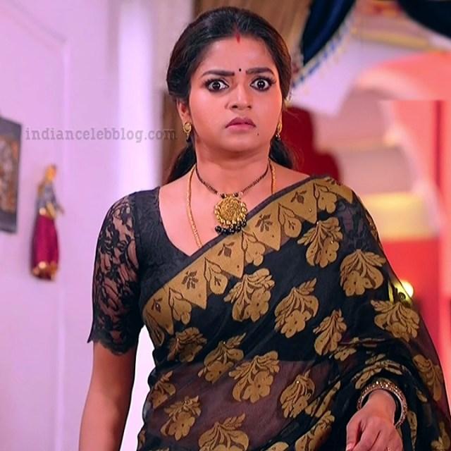 Nithya Ram Nandhini tv serial actress S2 3 hot saree photo