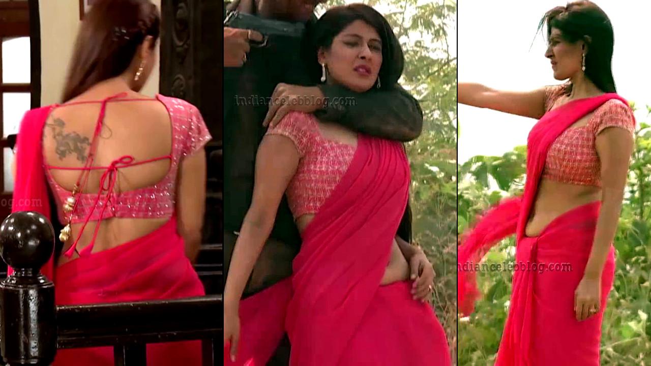 Shagun ajmani Jamai raja serial hot backless sari Caps