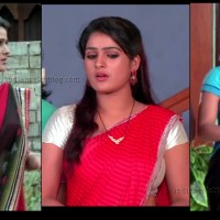 Monisha Nandhini vs nandini serial hot sari navel show caps