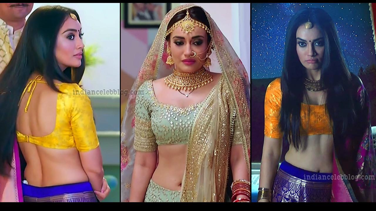 Surbhi Jyoti Naagin 3 series sexy backless lehenga choli HD caps