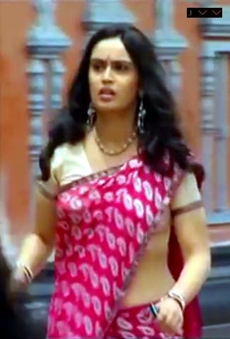 Kausalya_Tamil TV Actress-AKKA_2_Saree Navel