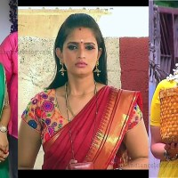 Kavya shastry saree caps from tamil serial mahalakshmi