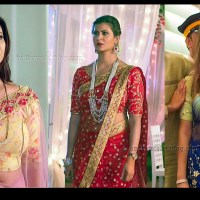 Parineeta borthakur navel show in see through sari HD tv caps