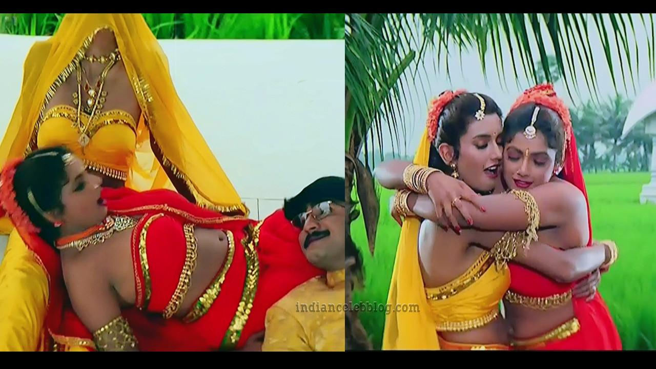 Ravali hot Song caps from Pelli sandadi Telugu film