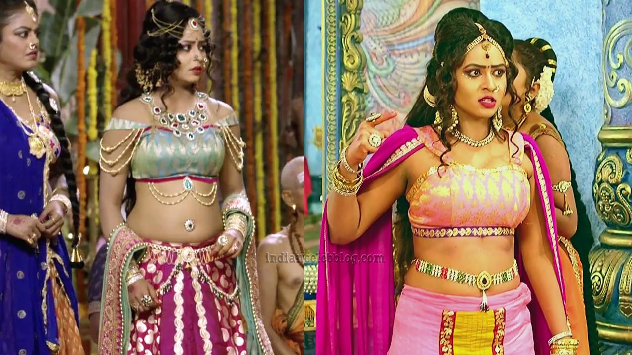 Meghana Gowda Telgu serial Swarna Khadgam hot Caps