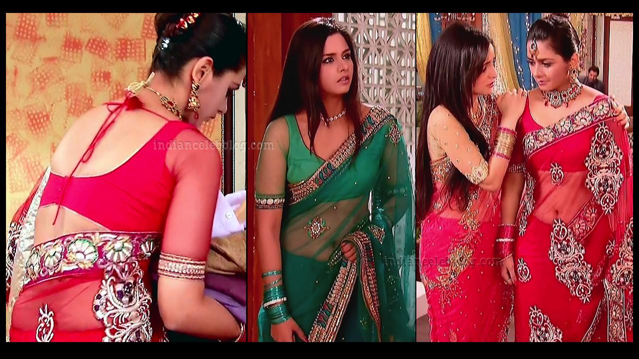 Daljeet kaur hindi TV actress transparent sari Caps
