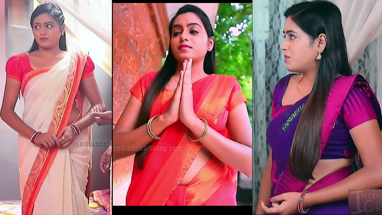 Deepika Aradhya kannada tv hot saree caps - Bili hendthi