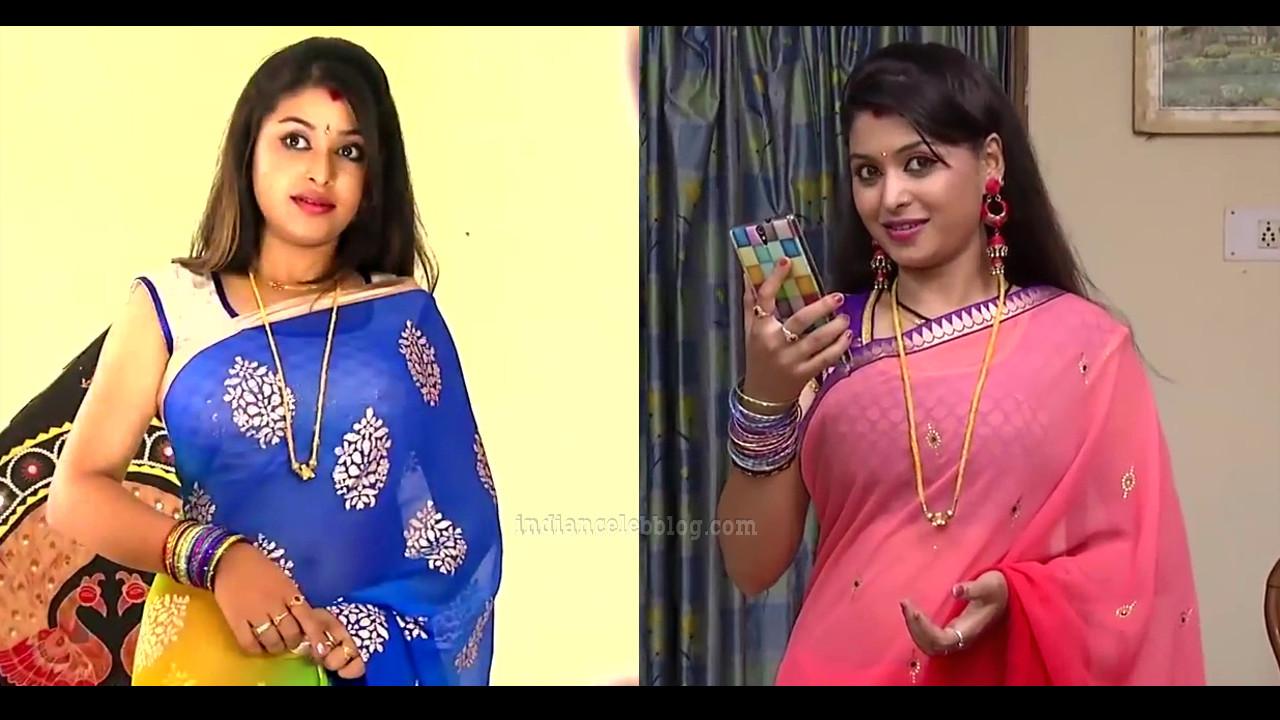 Nagashree Chandralekha tamil tv serial Saree Pics