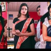 Sowmya rao nadig Tamil TV actress Caps in saree