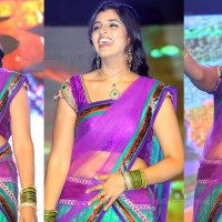 Anchor  Syamala Telugu event hot Half saree pics