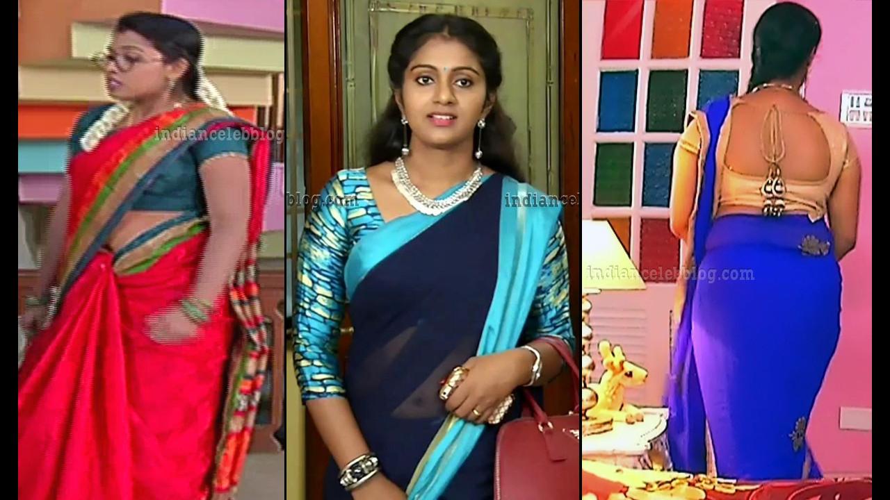 Tamil serial actress Saree caps mix gallery