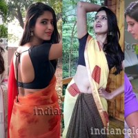 Ayesha Maya tamil tv serial actress hot Saree navel show