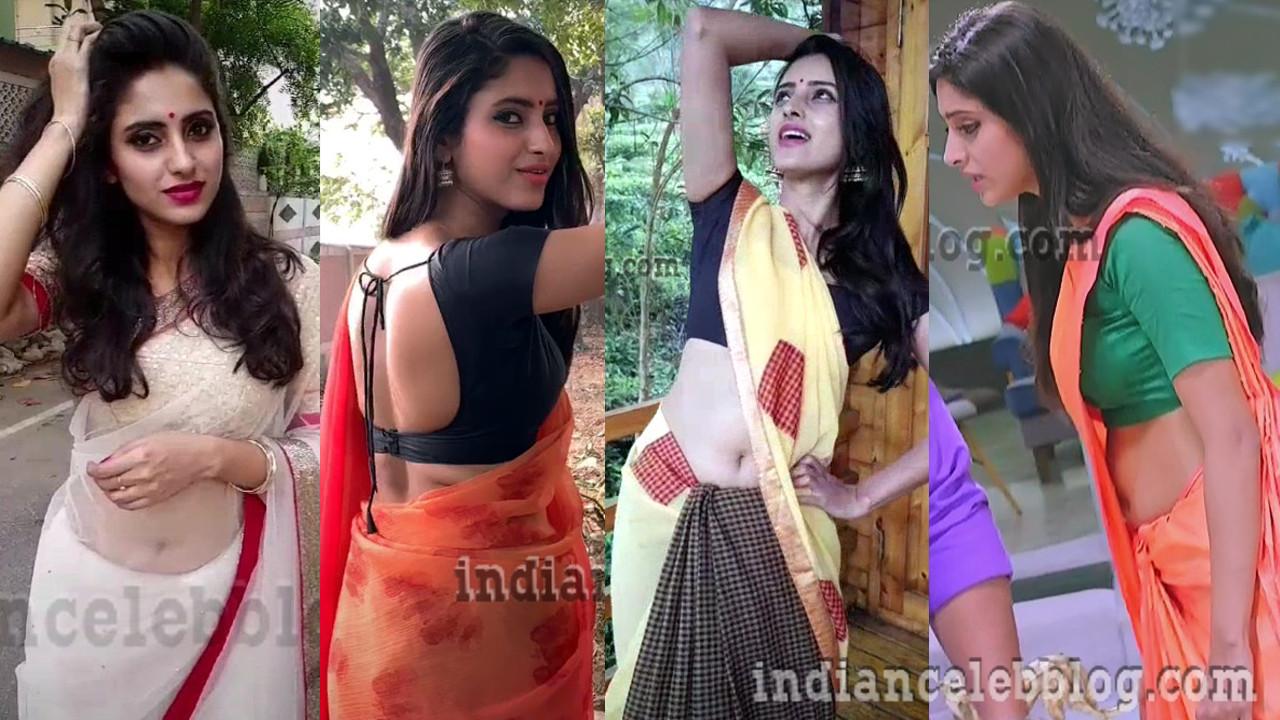 Ayesha Maya tamil tv serial actress hot Saree navel show