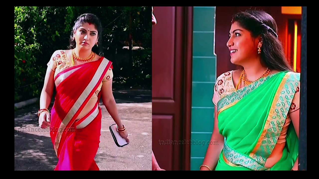 Papri ghosh tamil tv actress caps in sari