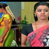Gayathri yuvraj tamil tv actress saree caps.