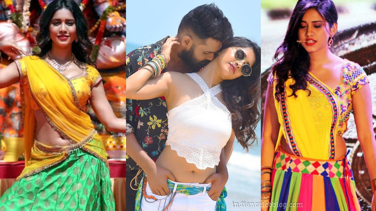 Nabha natesh telugu actress hot navel show stills pics