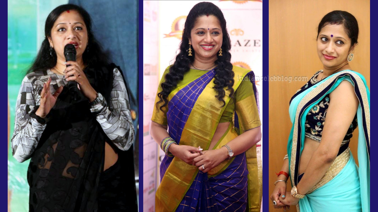 Anitha chowdary telugu tv anchor photos in saree