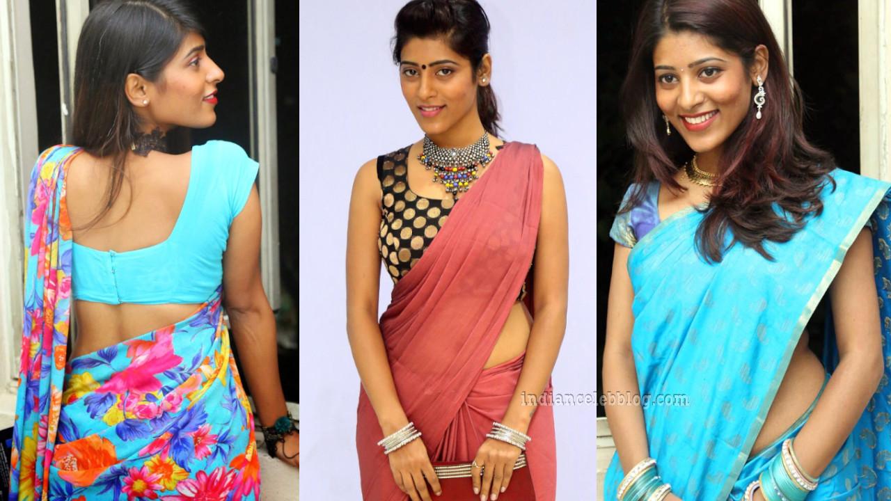 Gayathri gupta telugu actress sexy saree midriff show photos
