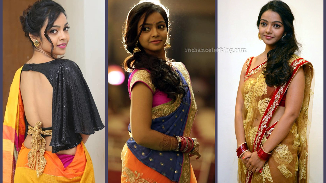 Nithya shetty hot saree photos