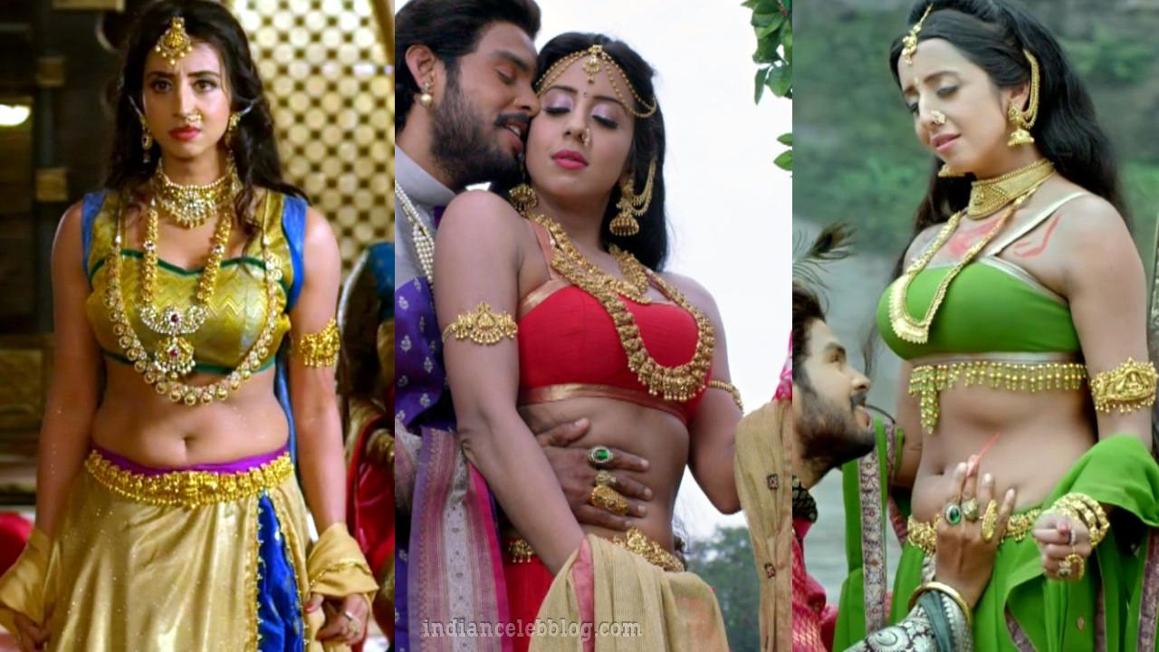 Sanjana galrani swarna khadgam tv series hot navel show hd caps