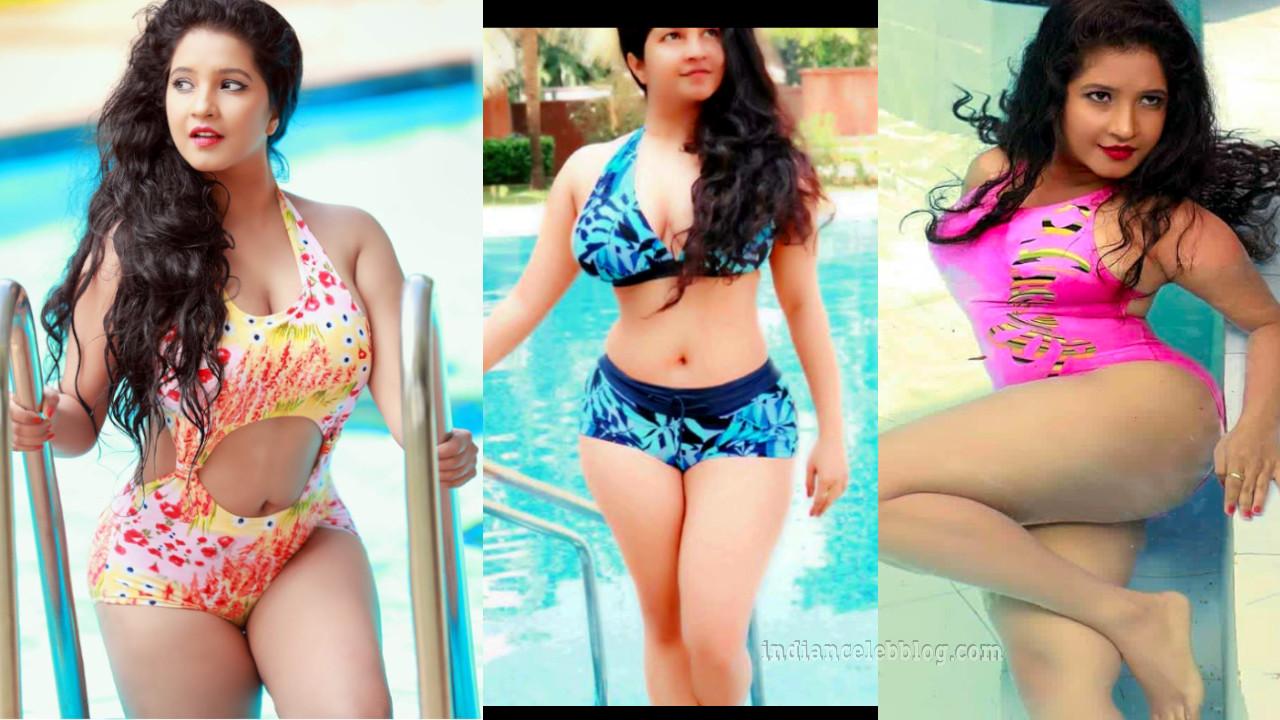 Sandalwood actress Shubha poonja hot swimsuit pics