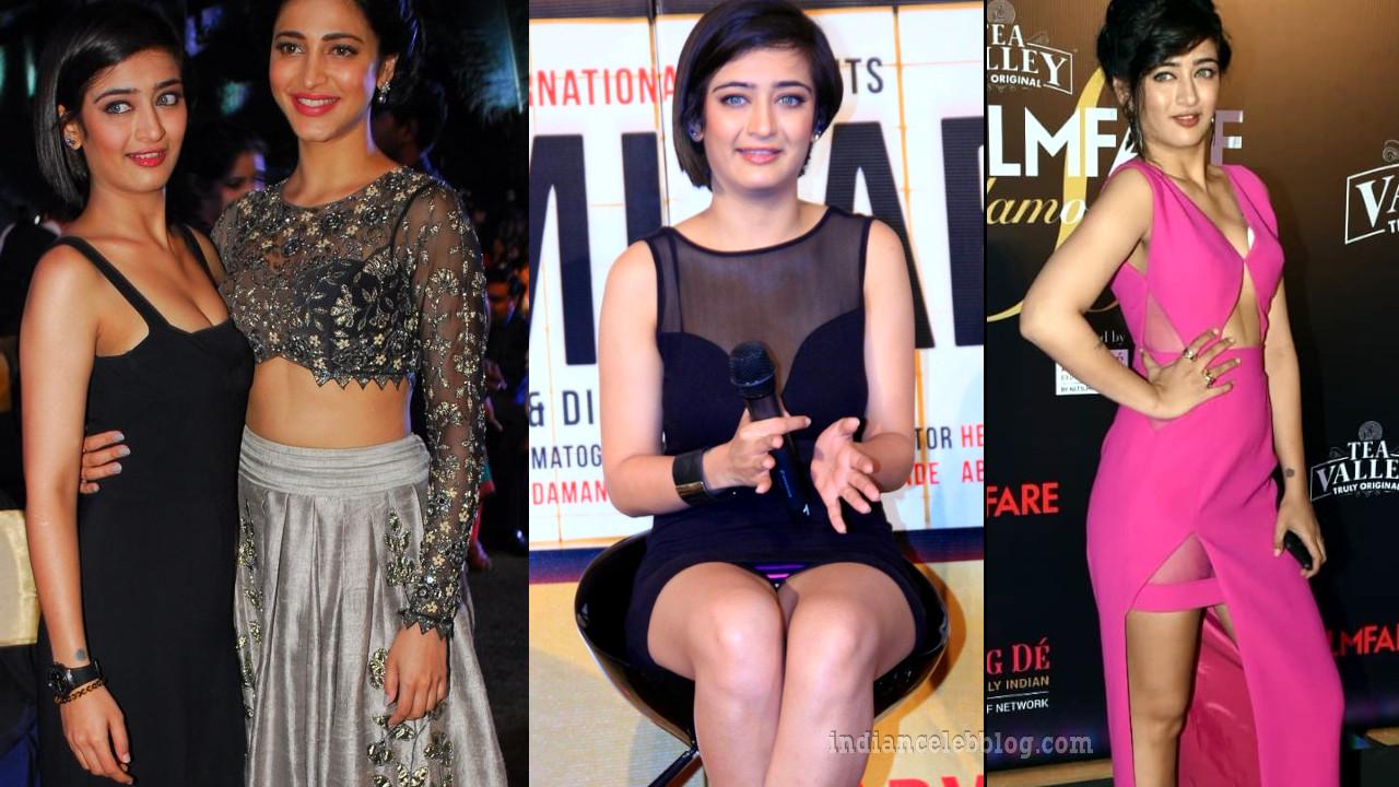 Akshara haasan hot thigh show in minidress event pics