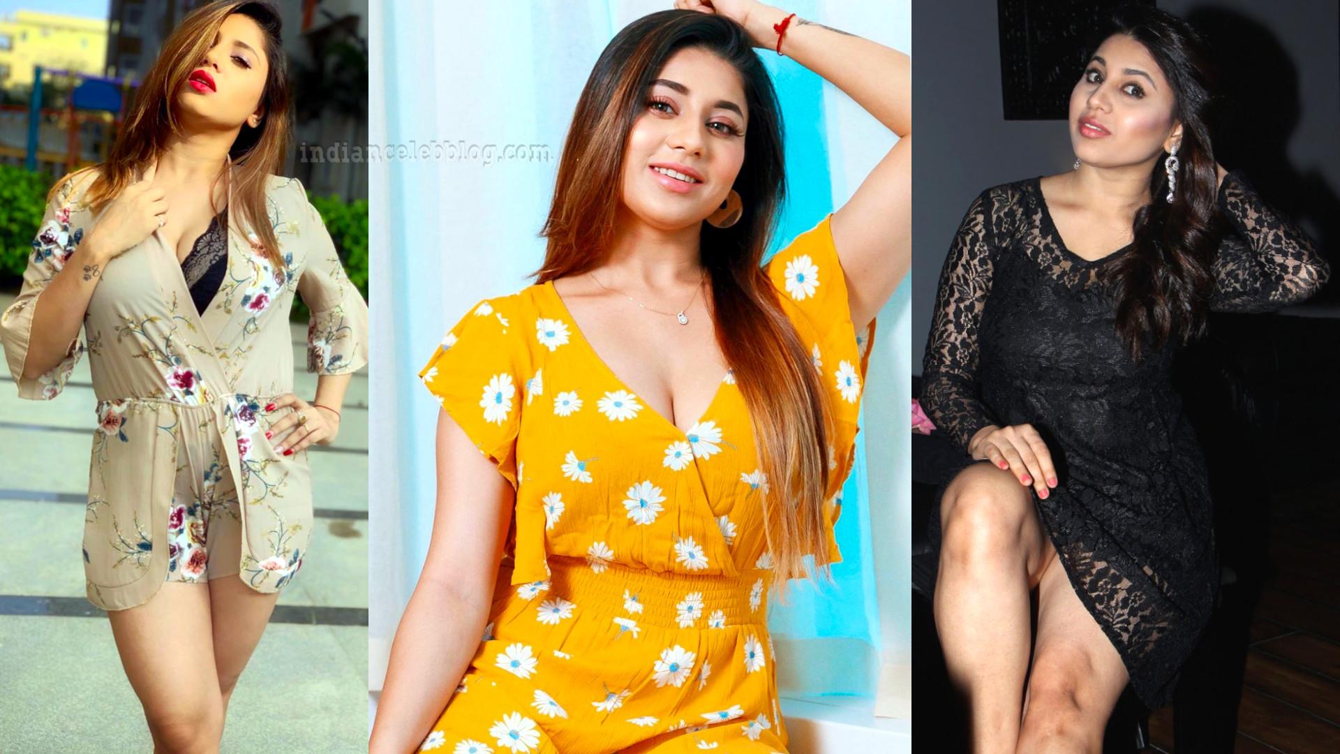 Hamida khatoon south actress hot cleavage show.
