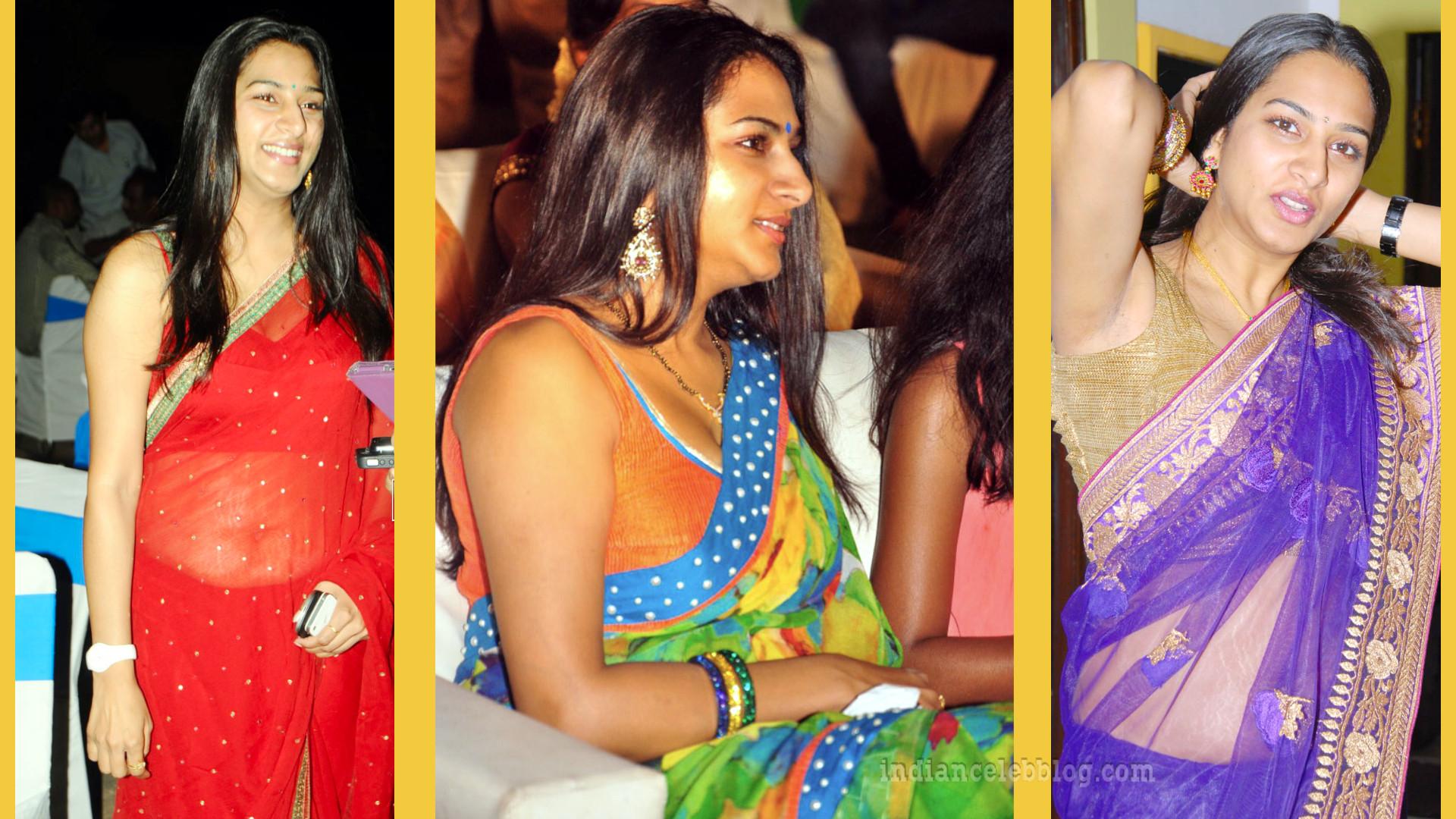 Surekha vani hot sleeveless blouse saree event pics