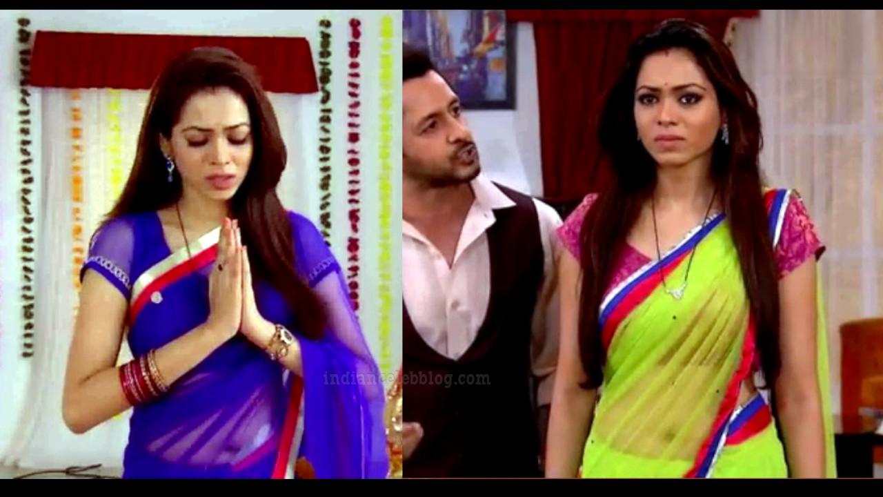 Vaishnavi dhanraj hindi tv actress transparent sari caps