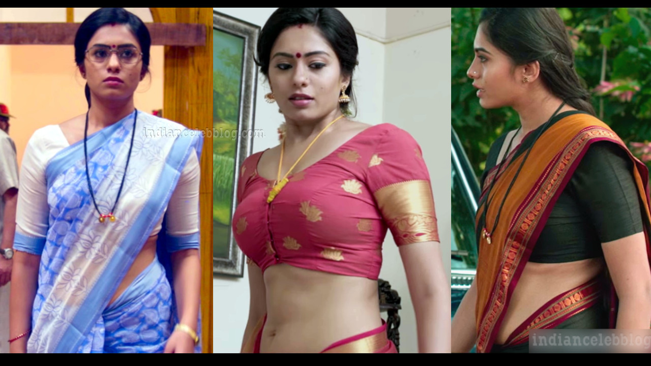 Deepa sannidhi sexy midriff show in sari HD caps