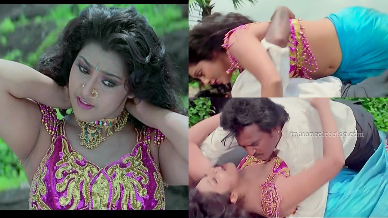 Meena hot scene with rajnikanth muthu caps