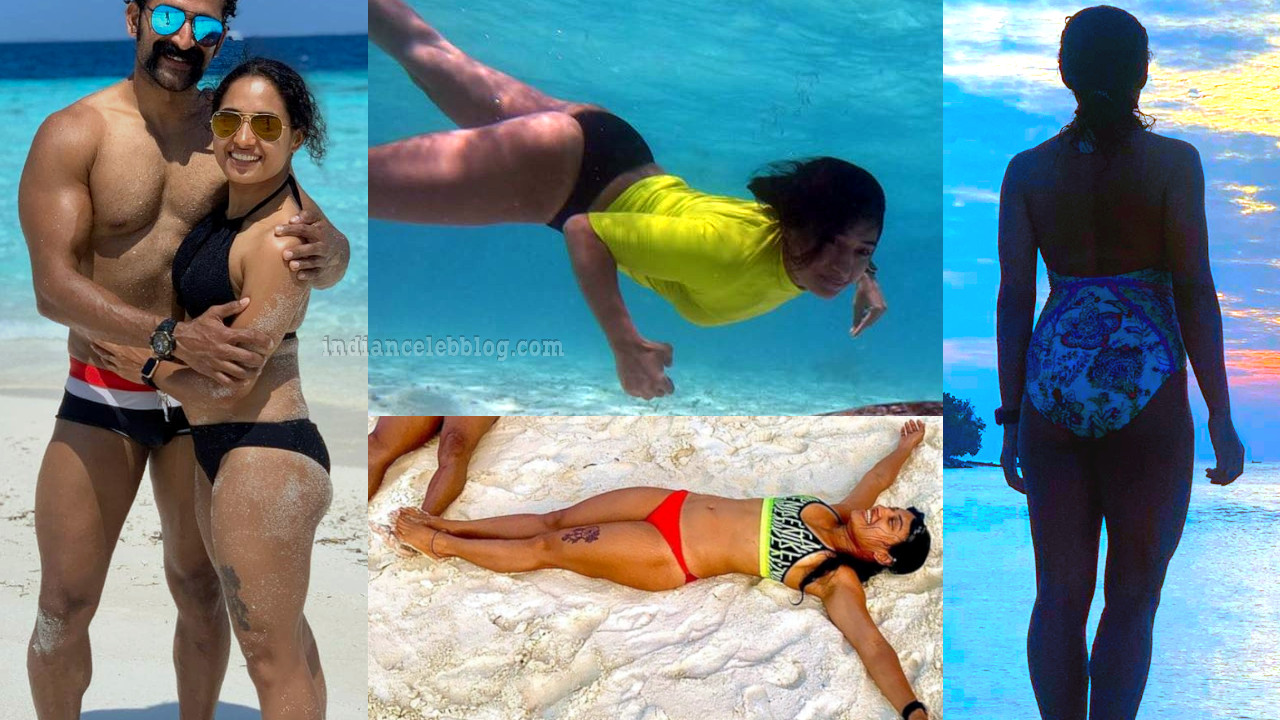 Pooja ramachandran shared her beach vacation pics with hubby