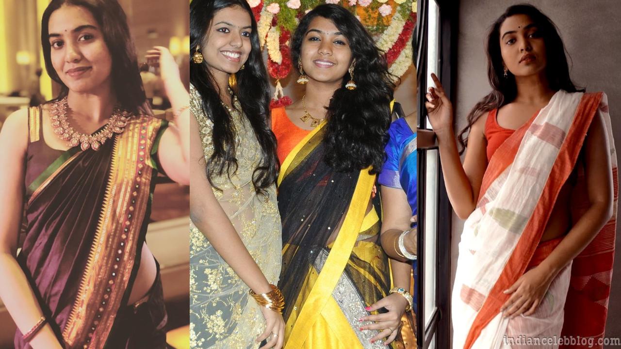 Shivathmika rajashekar telugu actress sari photos