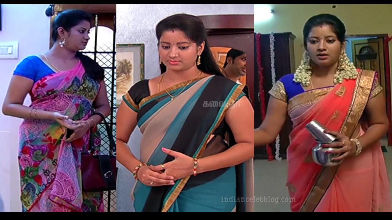 Sivaranjani priyamanaval tamil tv serial actress sari caps